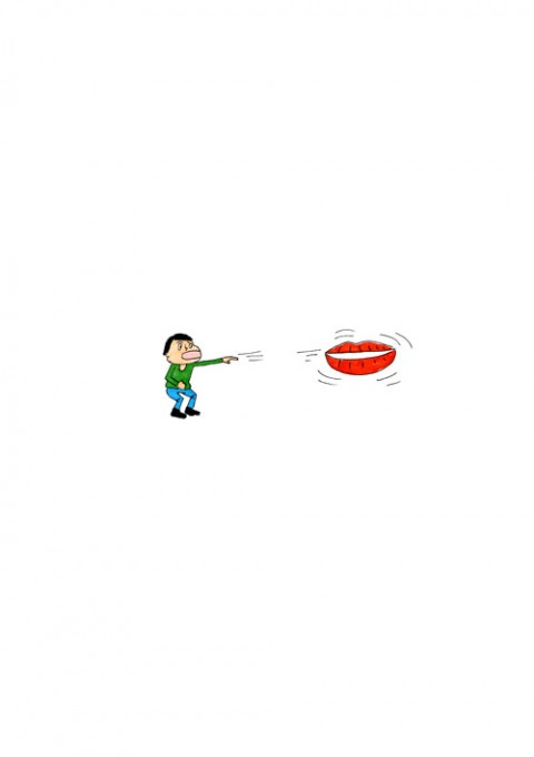 Lips Boomerang