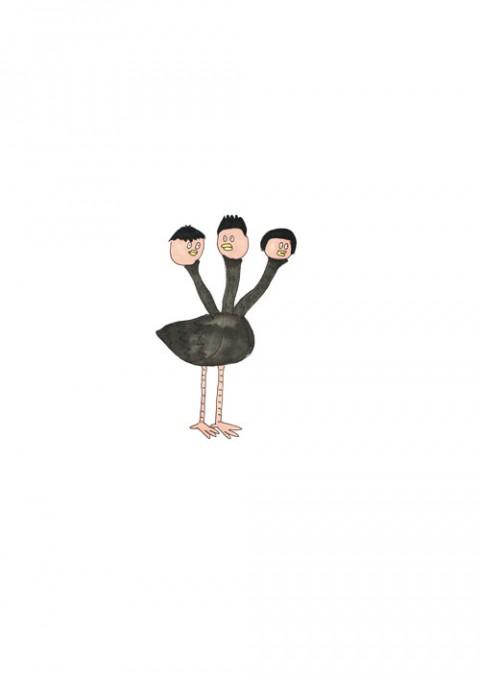 3 Faces Ostrich