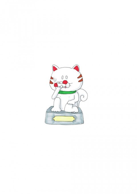 Marijuana Cat Statue