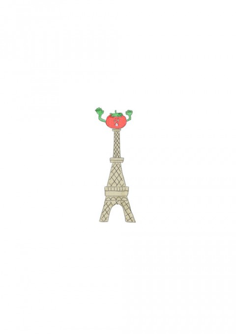 Tomato Eiffel Tower