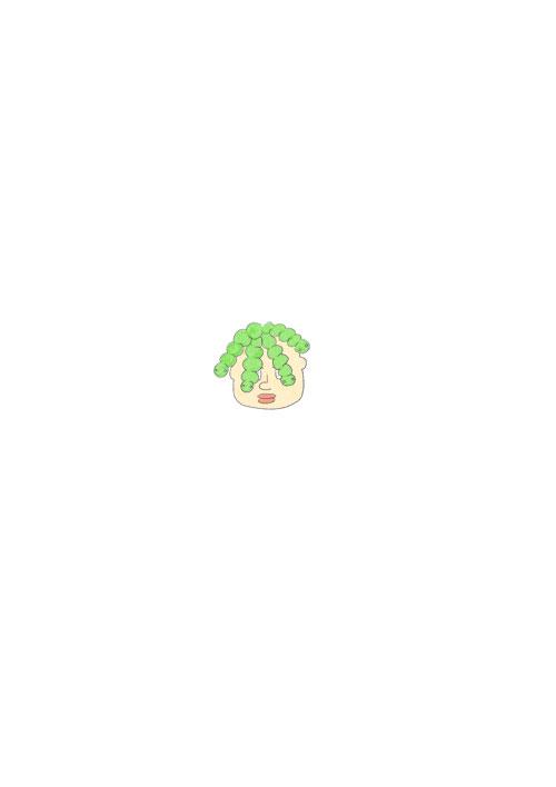 Green Worm Hair